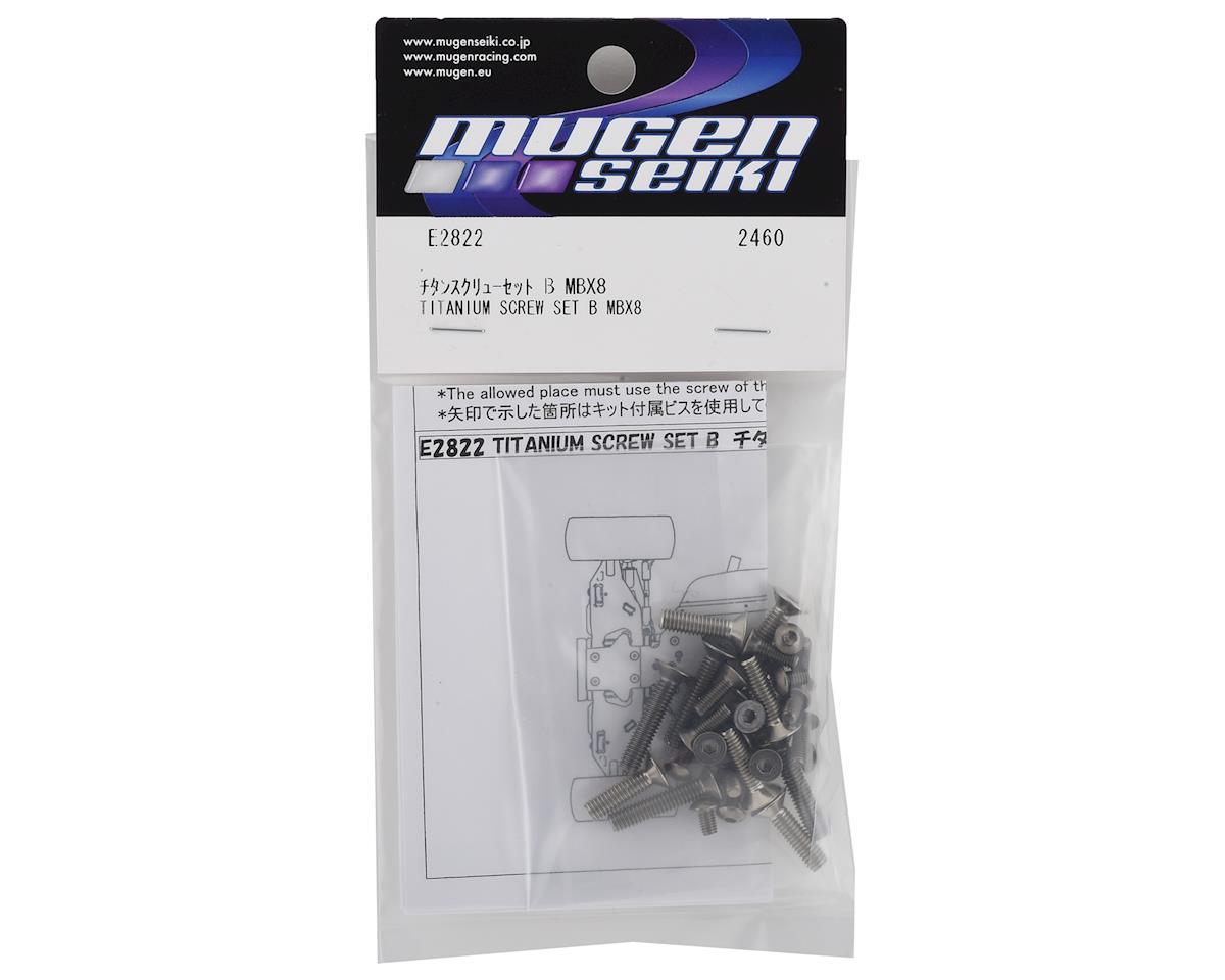 Mugen Seiki MBX8 Titanium Lower Screw Set B