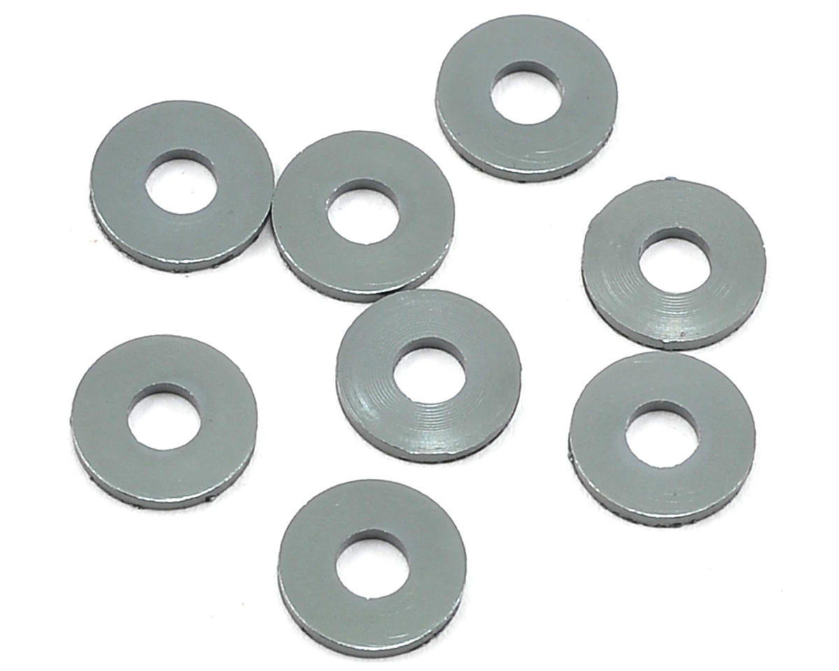 Mugen Seiki 3x8x1mm Aluminum Roll Center Spacer (8)