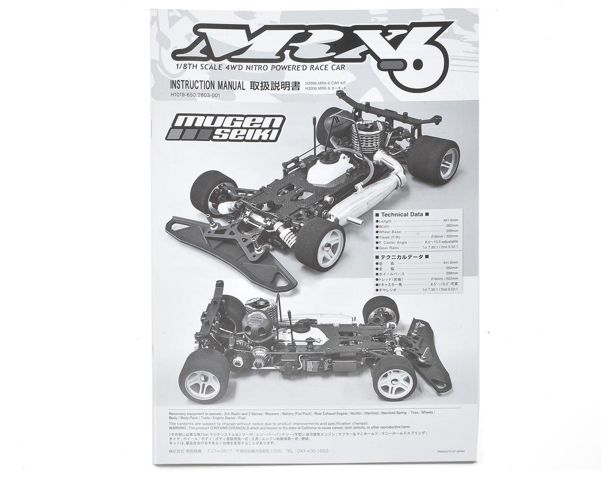 Mugen Seiki MRX6 Manual