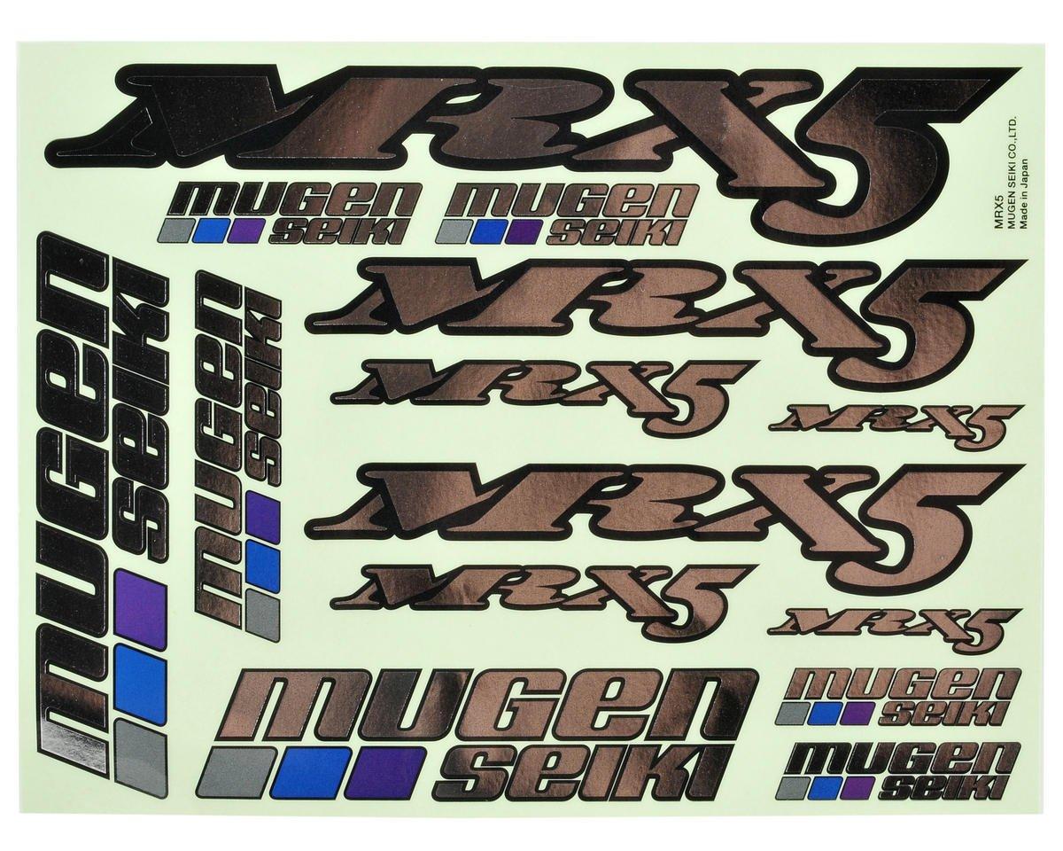 Mugen Seiki MRX5 Metallic Decal Sheet