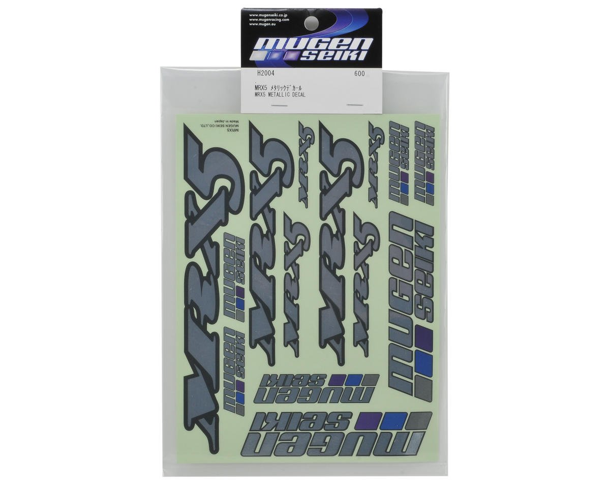 Mugen Seiki MRX5 Metallic Decal Sheet