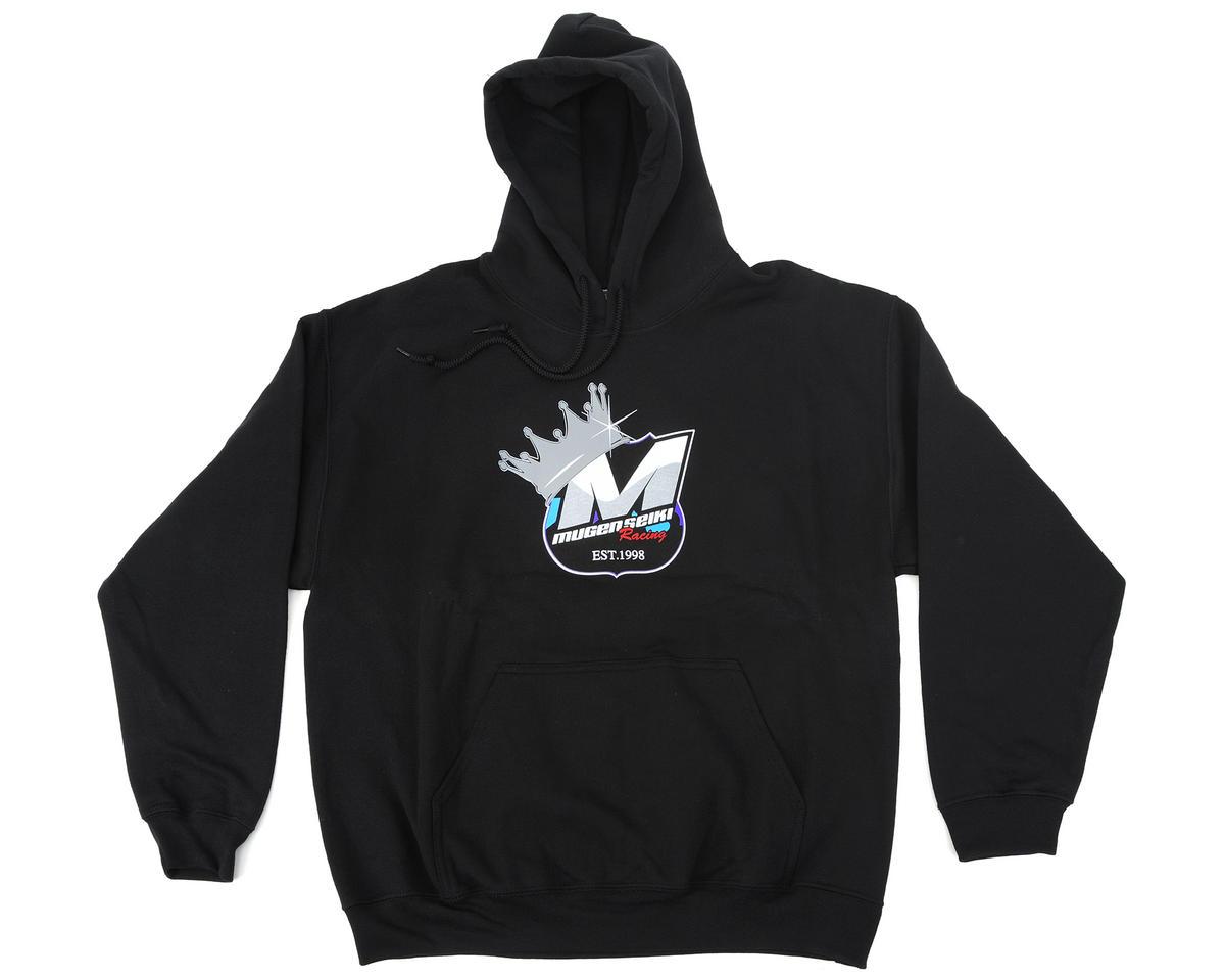 """Mugen Seiki Worlds """"M"""" Crown Logo Hooded Sweatshirt (Black) (Large)"""