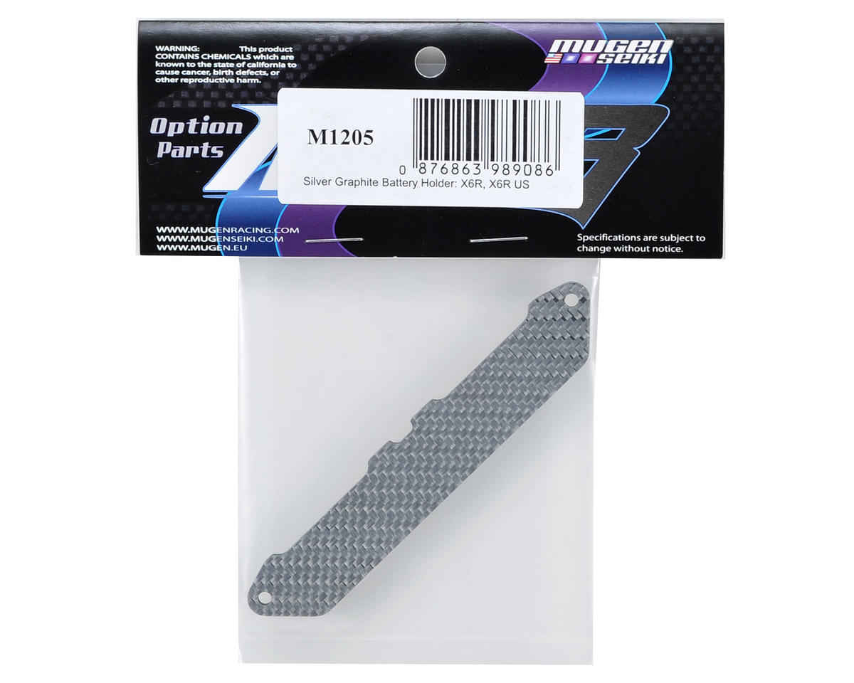 Mugen Seiki Graphite Battery Holder (Silver) (X6R US)