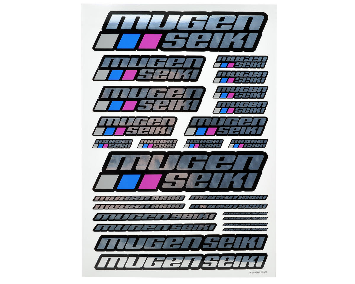 Mugen Seiki MTX4R Large Decal Sheet (Chrome)