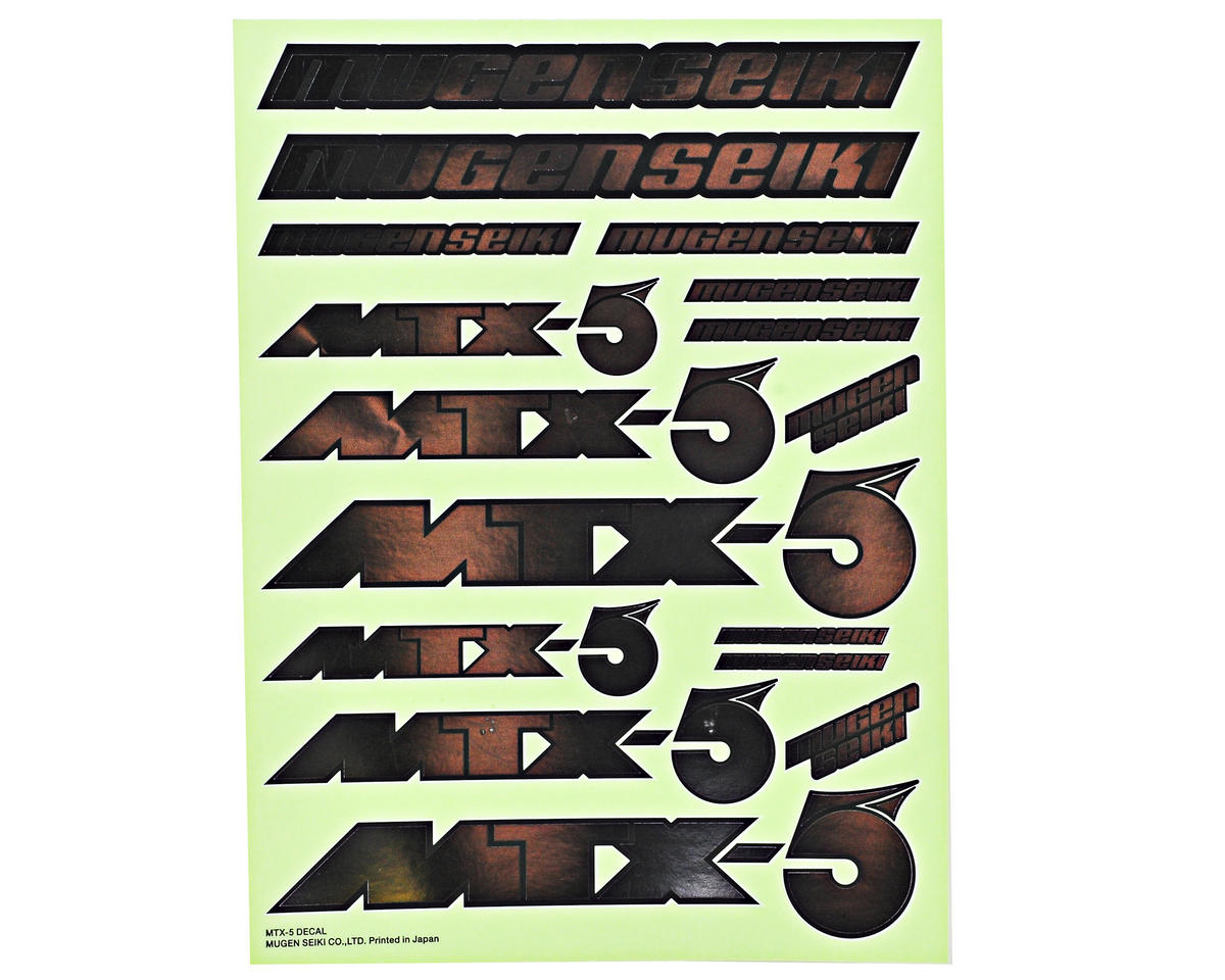 Mugen Seiki Metallic Decal Sheet (MTX5)