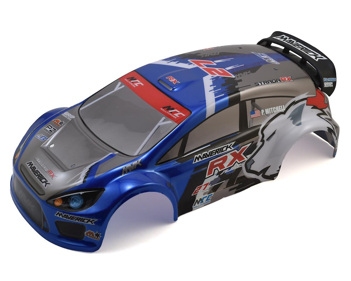 Maverick Strada RX Painted Rally Car Body (Blue)