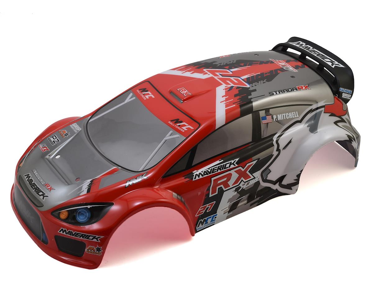 Maverick Strada RX Painted Rally Car Body (Red)