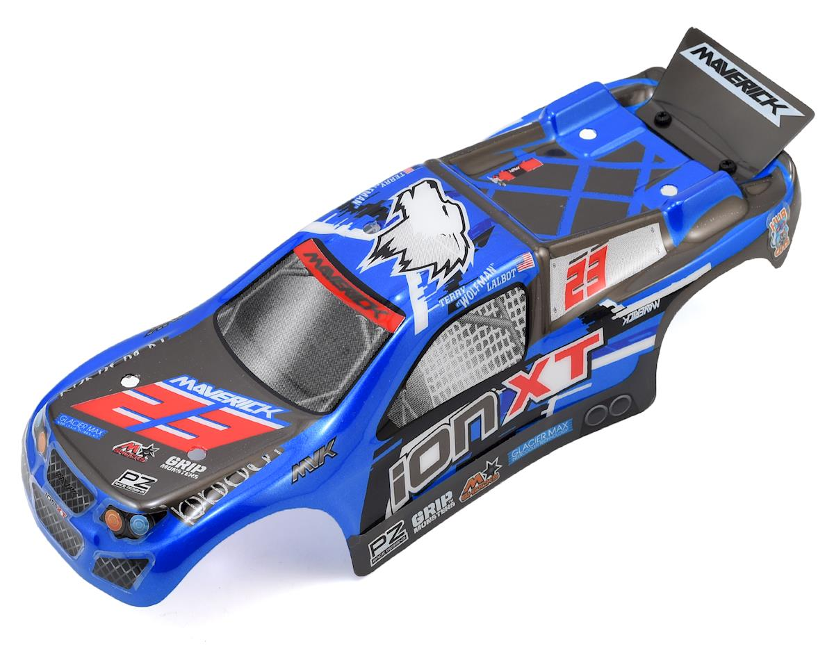 ION XT Pre-Painted Truggy Body (Blue) by Maverick