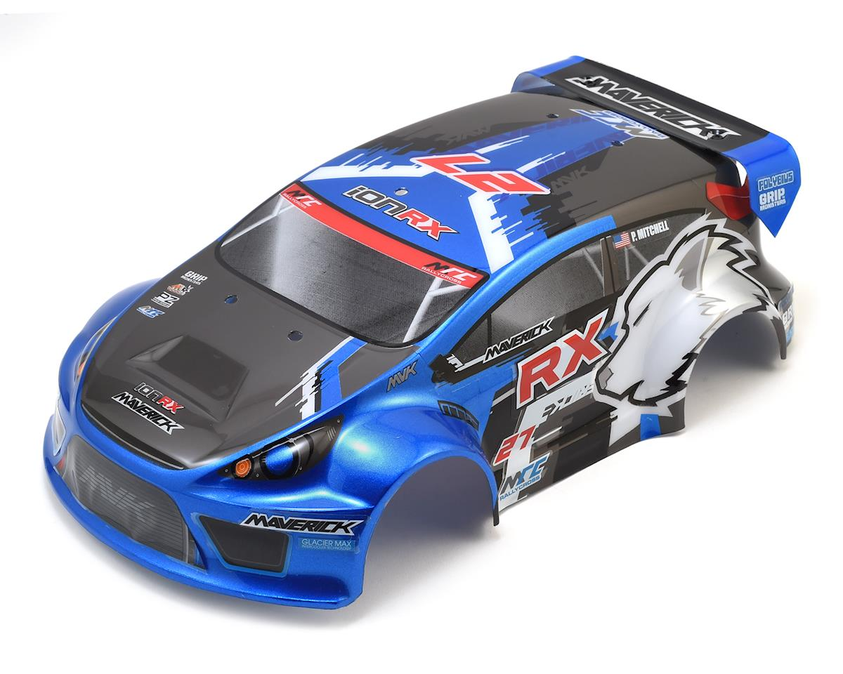 ION RX Pre-Painted Rally Body (Blue) by Maverick