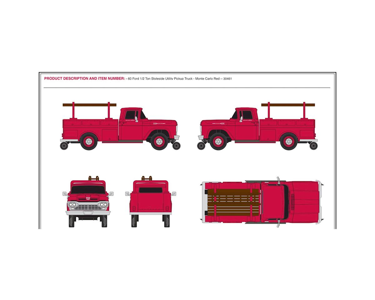 HO 1960 Ford Utility Truck, Red by Classic Metal Works