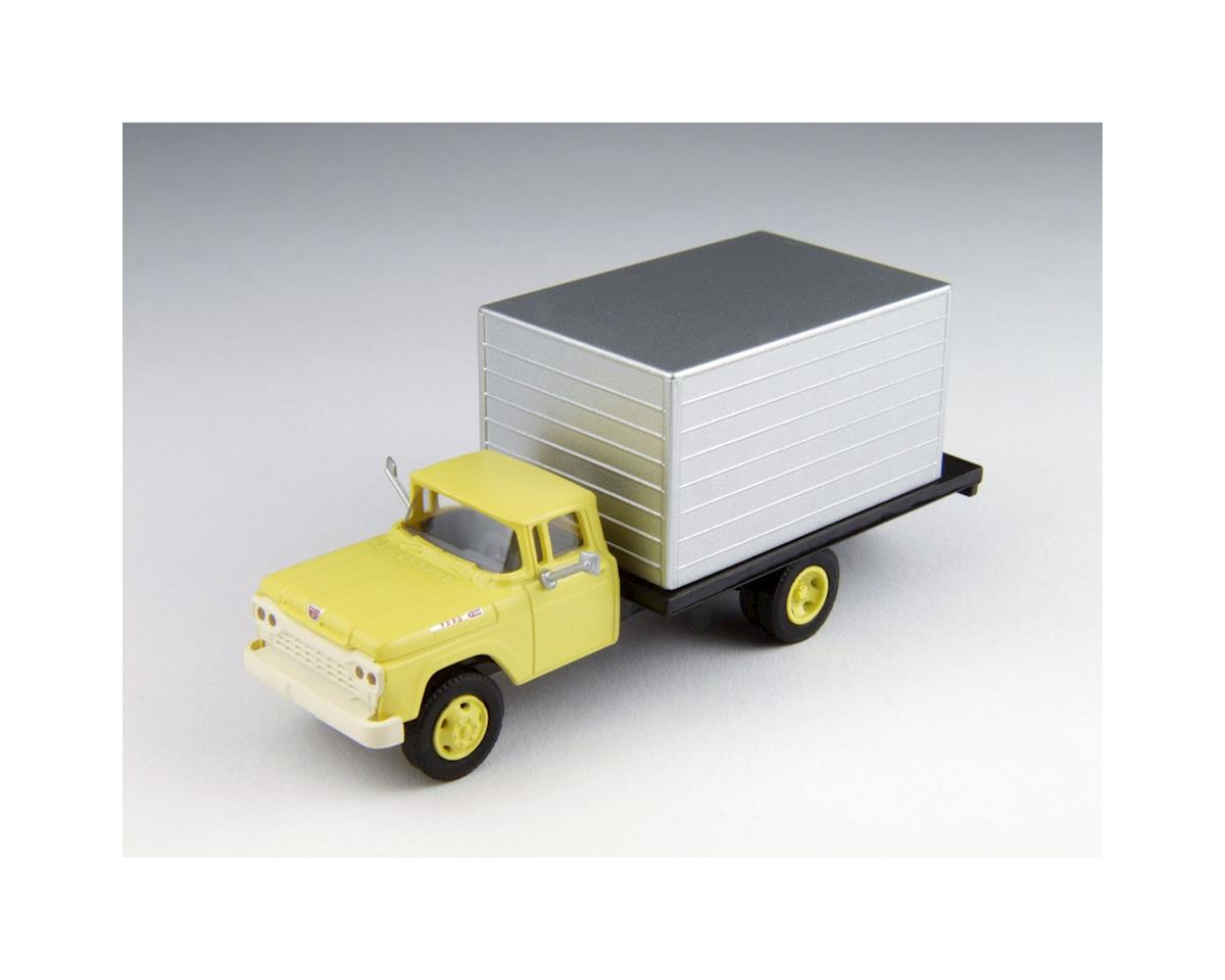 HO 1960 Ford Delivery Truck, Yellow Cab by Classic Metal Works