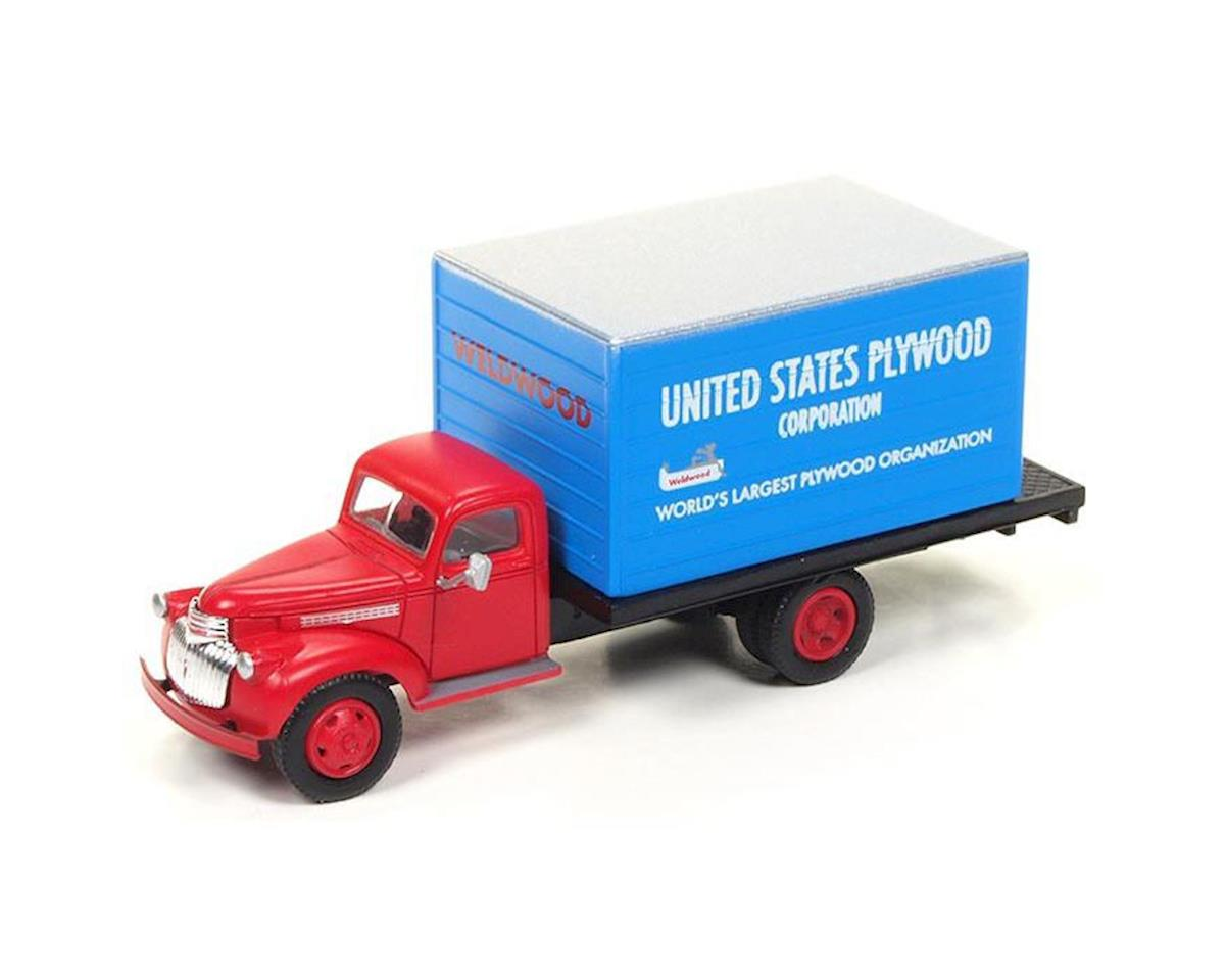Classic Metal Works HO 1941-46 Chevy Box Truck, US Plywood