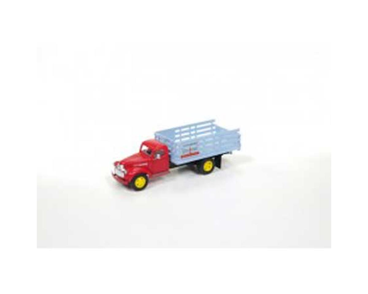 HO 1941-46 Chevy Box Truck, Blue Coal by Classic Metal Works