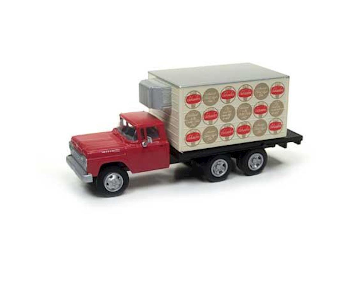 Classic Metal Works HO 1960 Ford Reefer Box Truck, Schaefer Beer