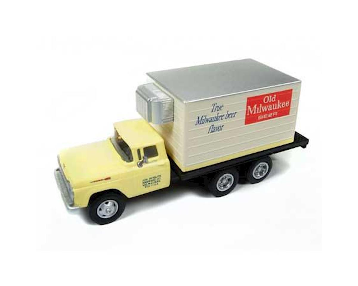 HO 1954 Ford Reefer Box Truck, Old Milwaukee Beer