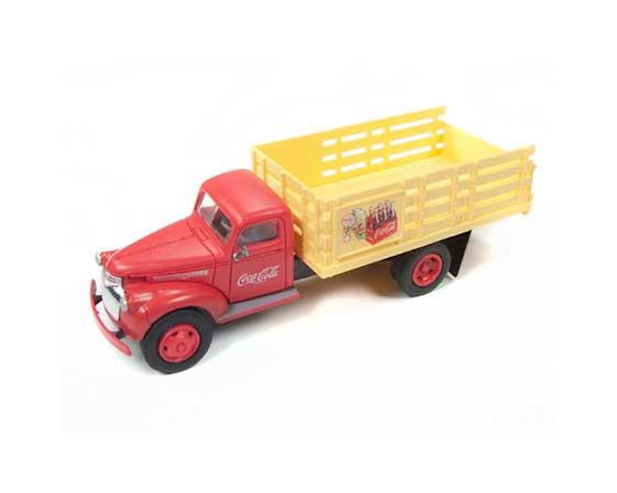Classic Metal Works HO 1941-1946 Chevy Stakebed Truck, Coca Cola