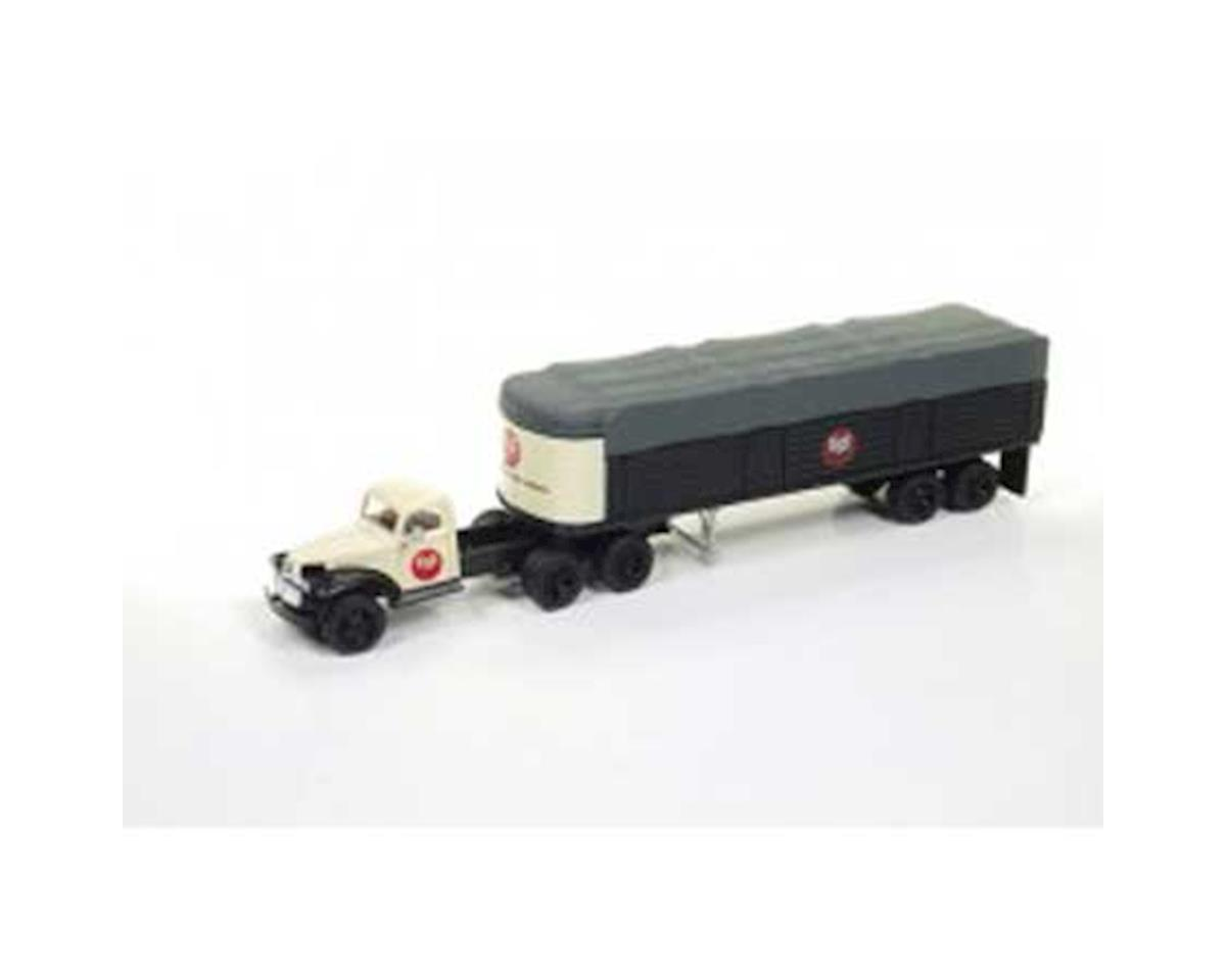 HO 1941-46 Chevy Tractor/Trailer, US Steel
