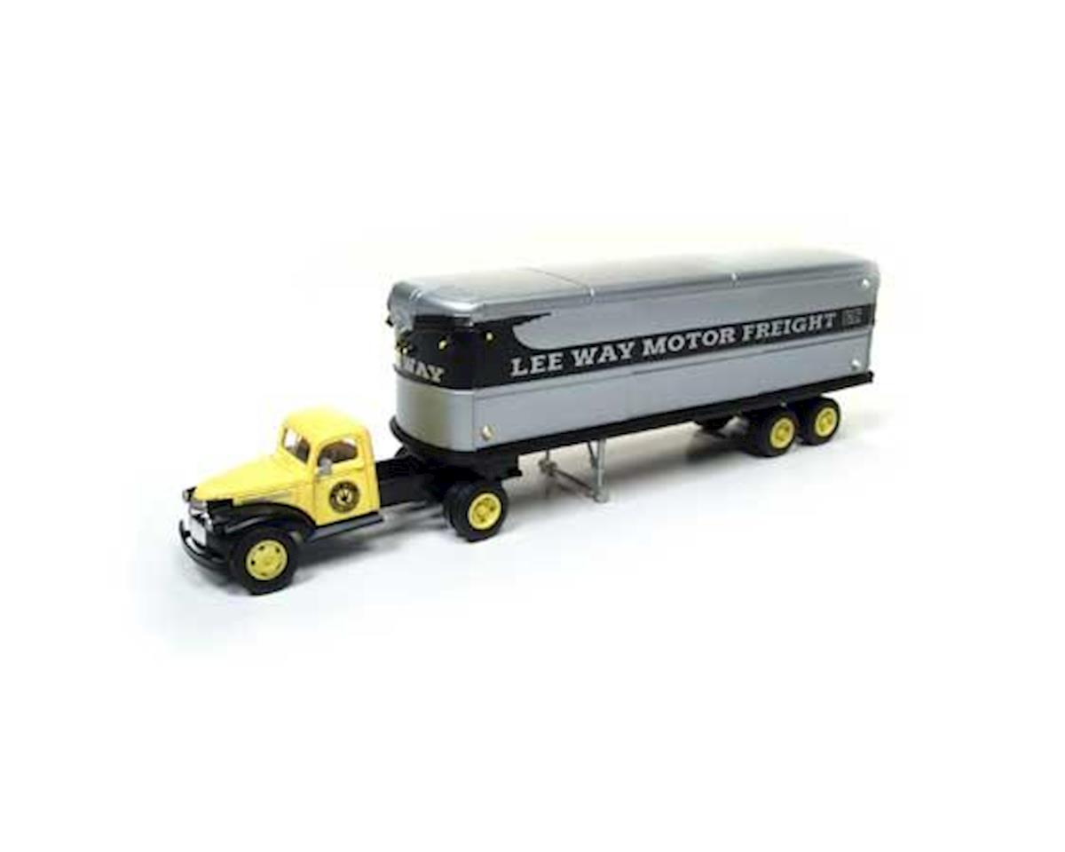 Classic Metal Works HO 1944-46 Chevy Tractor/Trailer, Lee Way