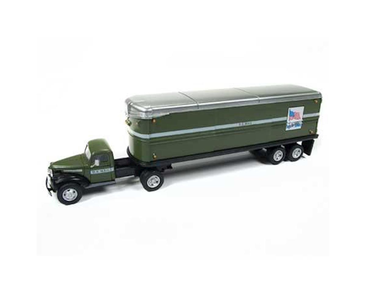 Classic Metal Works HO 1944-46 Chevy Tractor/Trailer, US Mail
