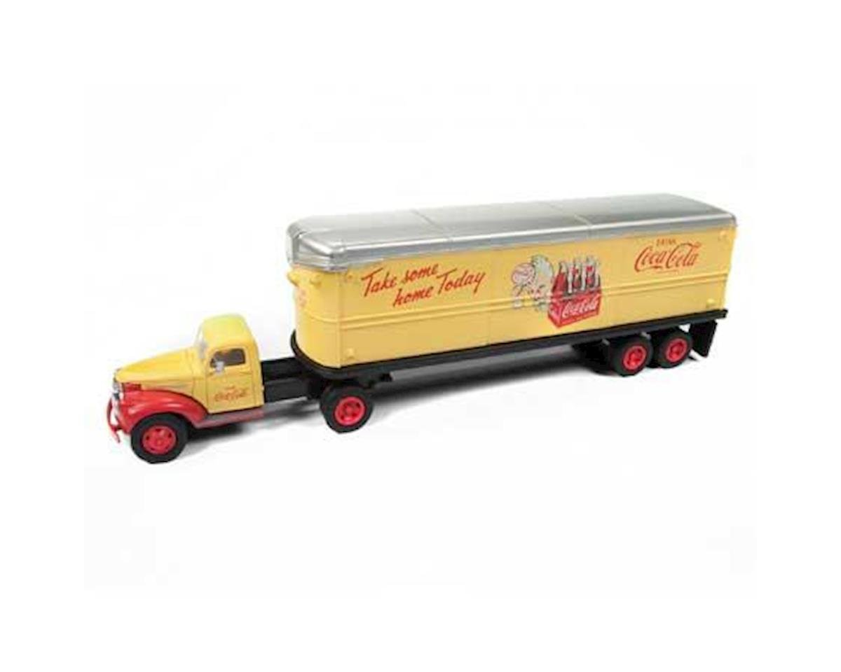 Classic Metal Works HO 1944-46 Chevy Tractor/Trailer, Coca Cola