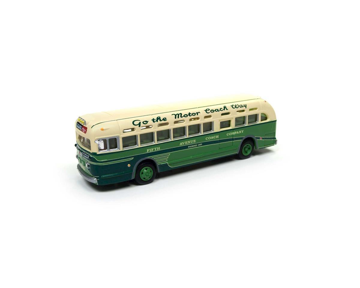 Classic Metal Works HO GMC TDH 3610 Bus, NYC/5th Ave/Riverside/Wash Sq