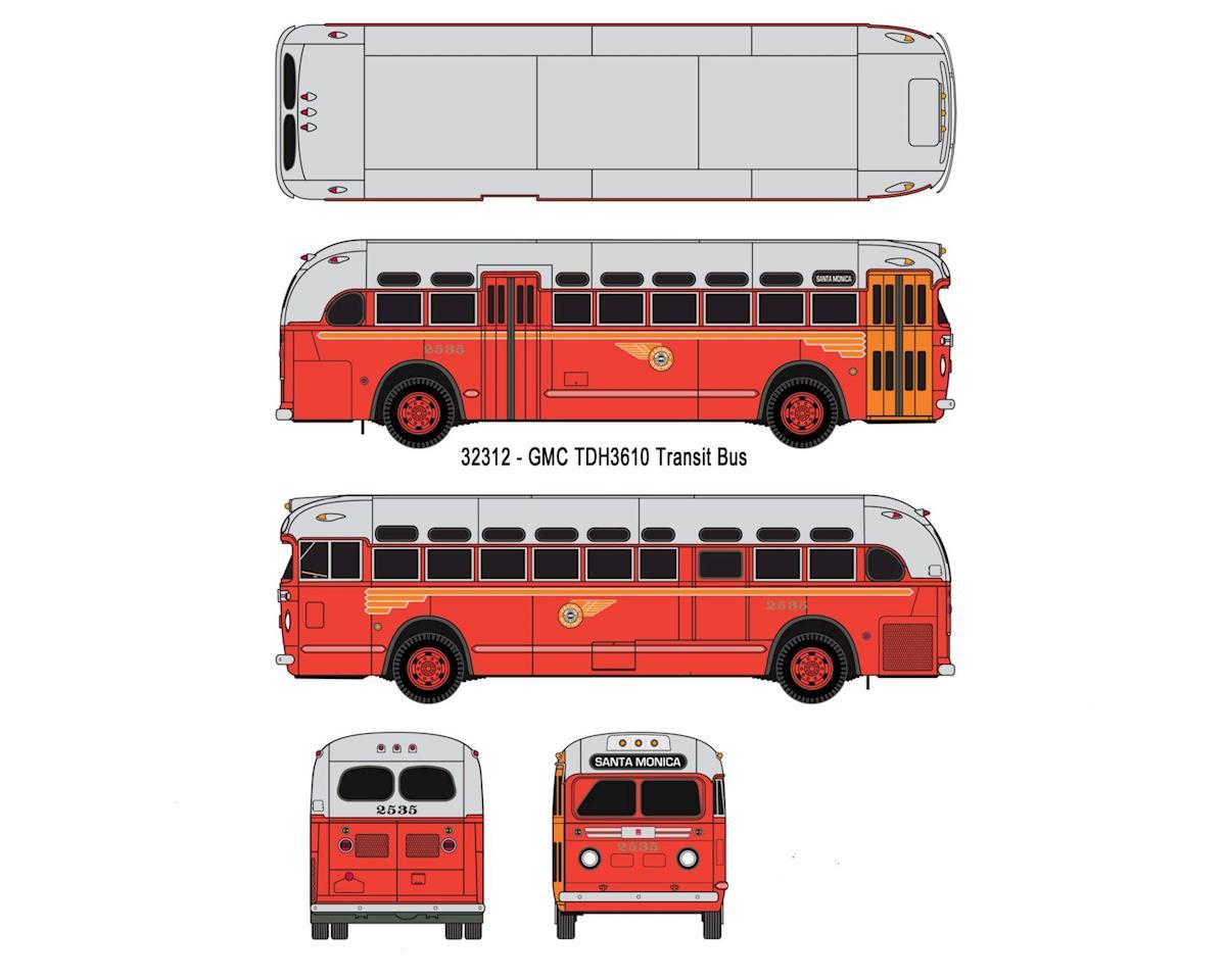 Classic Metal Works HO GMC TDH 3610 Bus, PE/Santa Monica