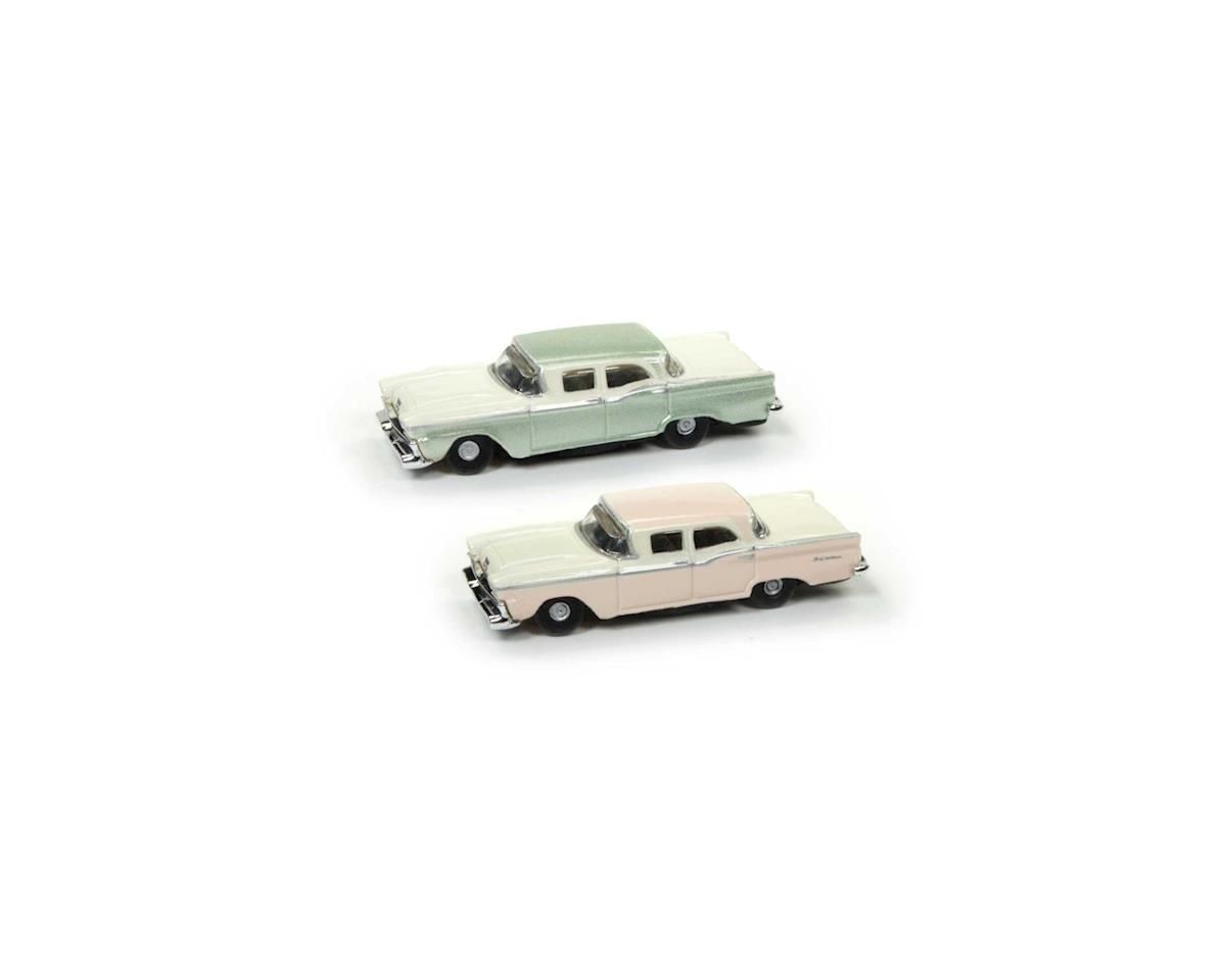 Classic Metal Works N 1959 Ford Fairlane, Sand/Green Metallic (2)