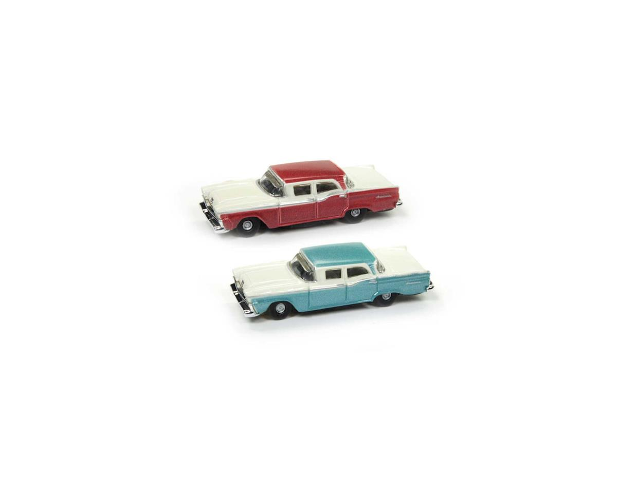 Classic Metal Works N 1959 Ford Fairlane, Sapphire Metallic/Red (20)