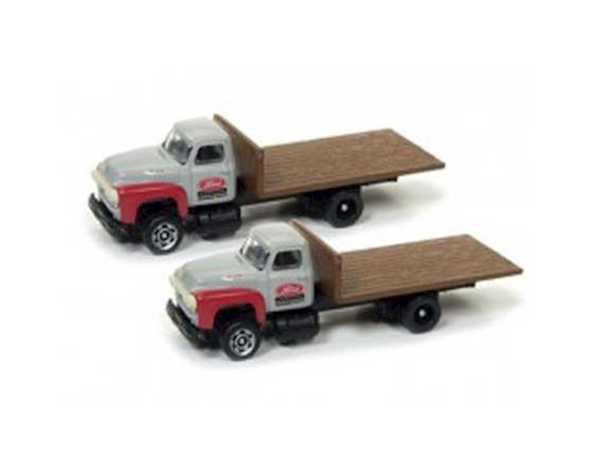 N 1954 Ford Flatbed Truck, Red/Gray (2)