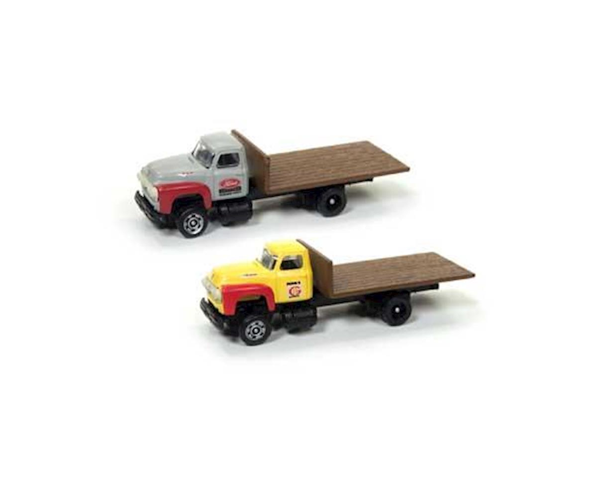 N 1954 Ford Flatbed Truck, Yellow/Red (2)