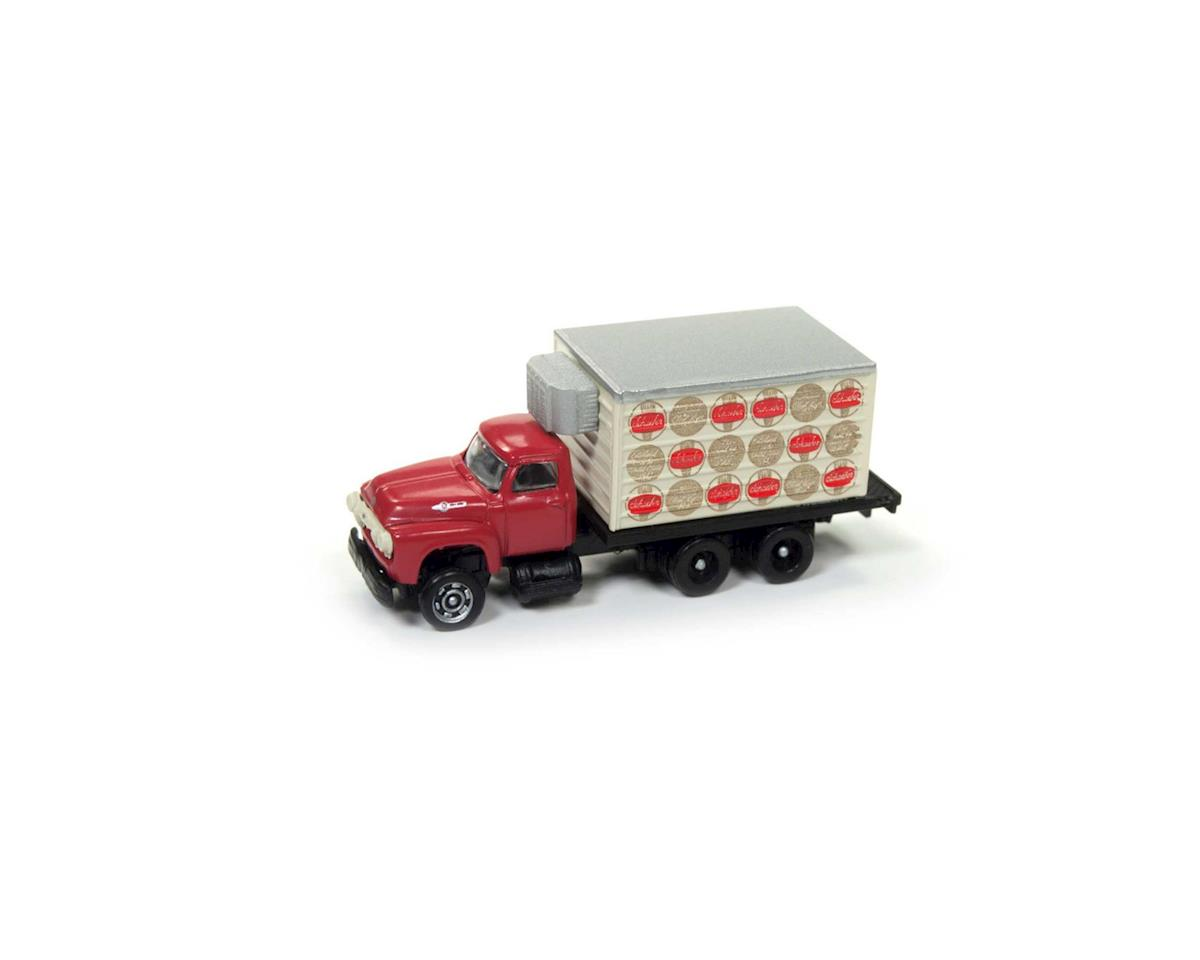 Classic Metal Works N 1954 Ford Reefer Box Truck, Schaefer Beer