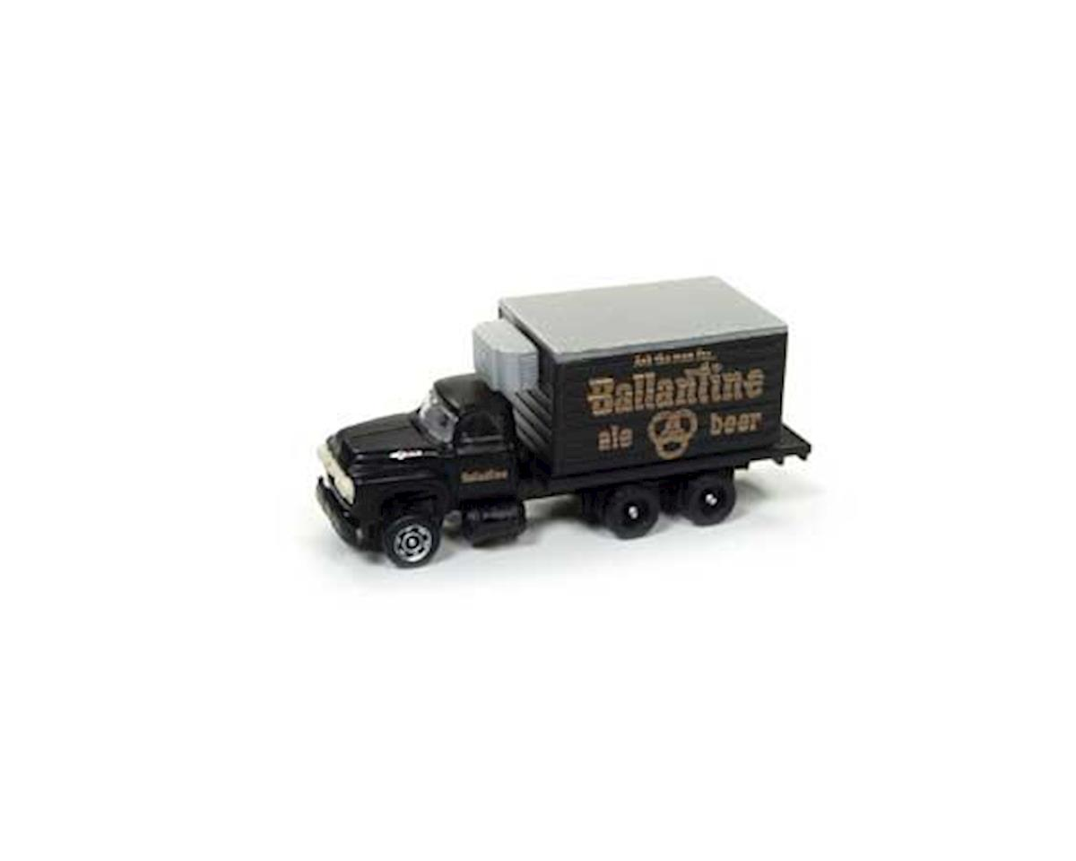 Classic Metal Works N 1954 Ford Reefer Box Truck, Ballantine Beer