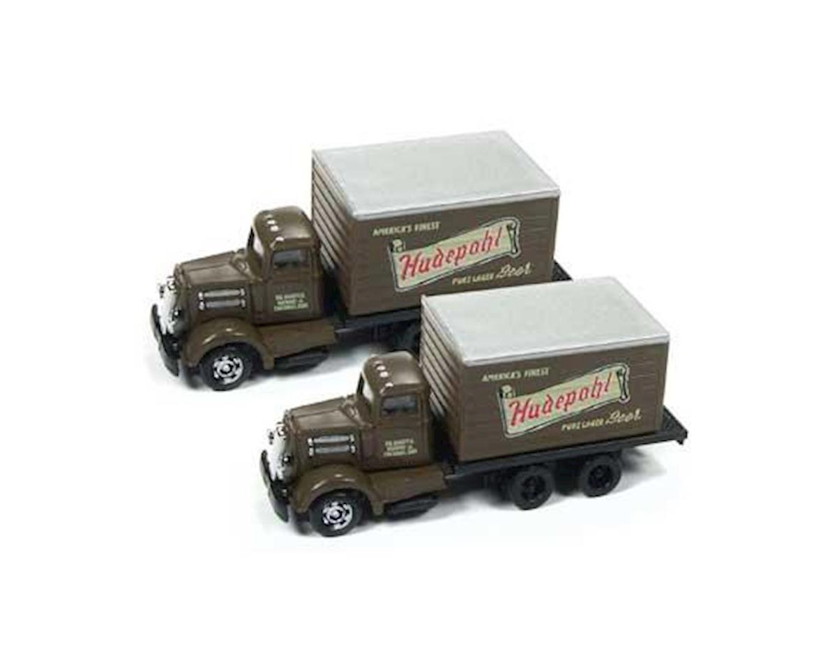 Classic Metal Works N White WC22 Reefer Truck, Hudepohl Beer