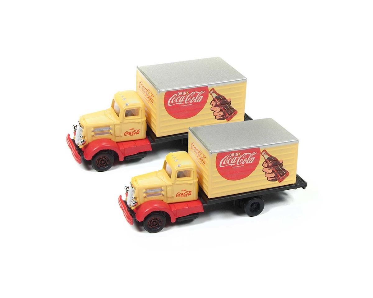 Classic Metal Works N White WC22 Box Truck, Coca Cola (2)