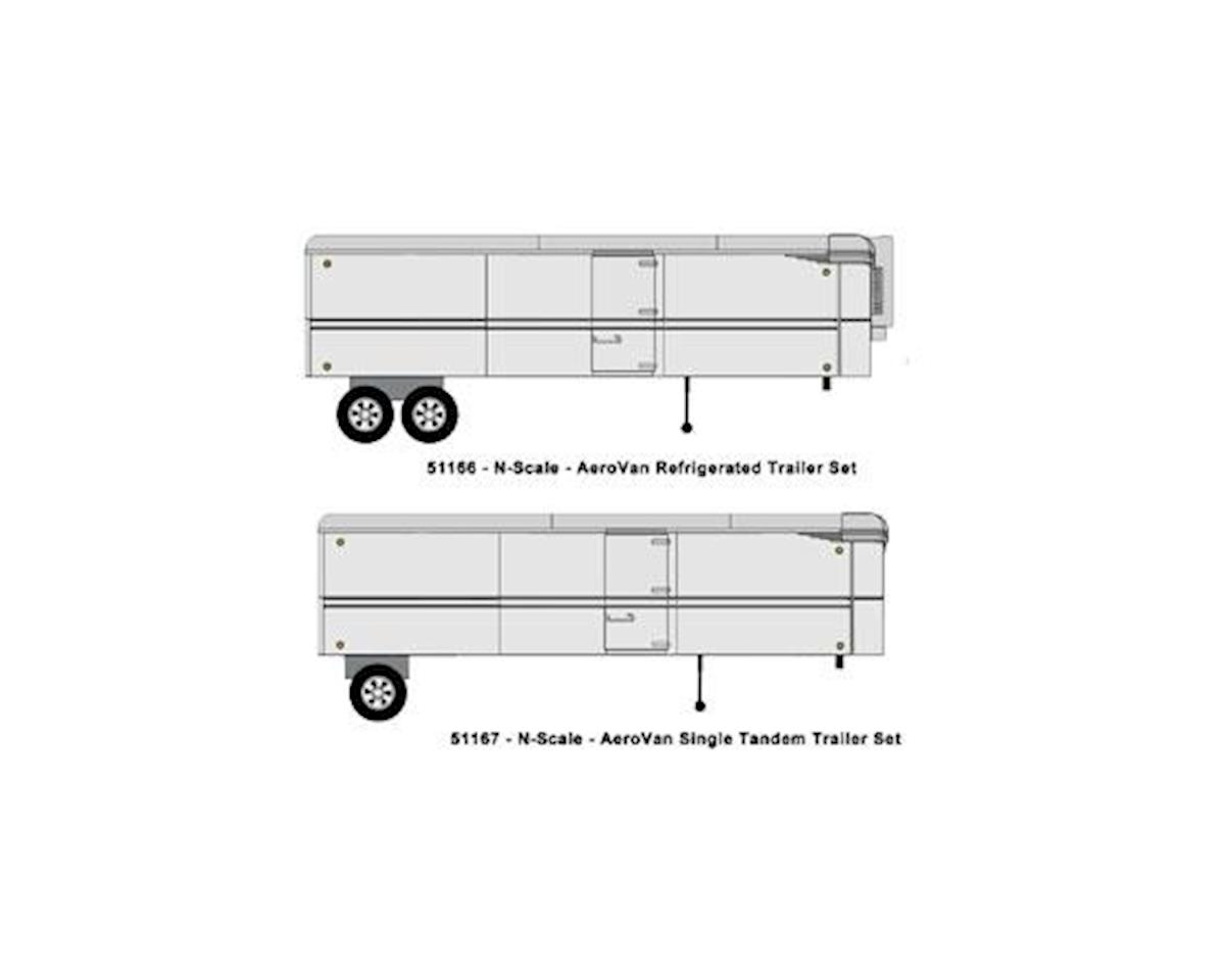 N Aerovan Trailer Reefer Set, Undecorated (2)