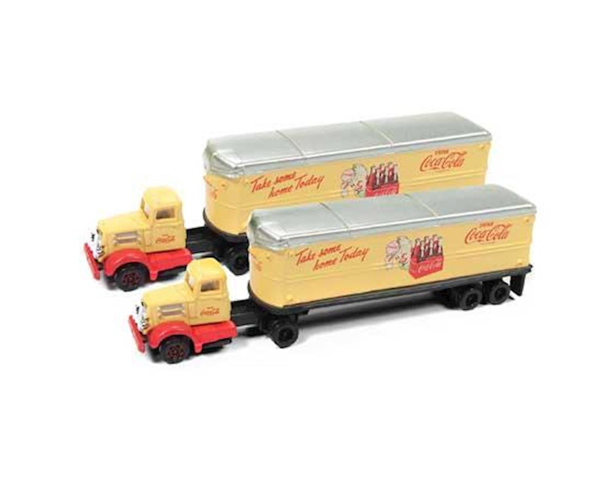 Classic Metal Works N White WC22 Tractor/Trailer Set, Coca Cola (2)