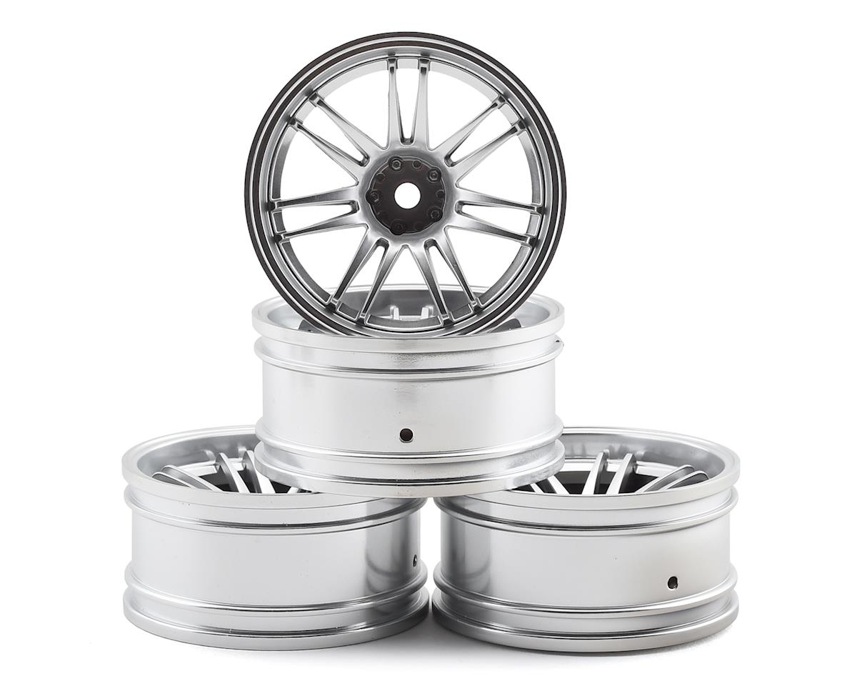 MST RE30 Wheel Set (Flat Silver) (4) (+10 Offset)