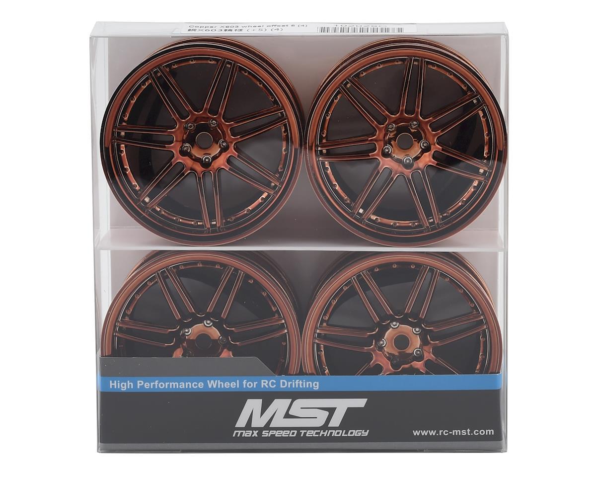 Image 4 for MST X603 Wheel Set (Copper) (4) (+5 Offset)