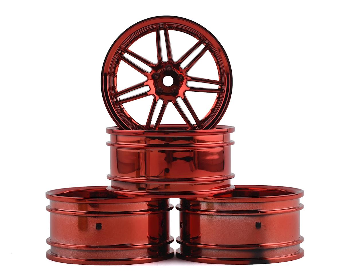 MST X603 Wheel Set (Red) (4) (+11 Offset)