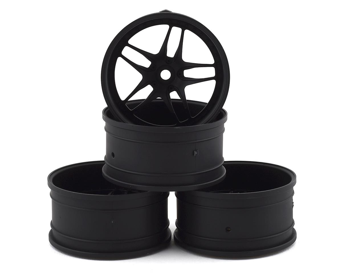 MST FB Wheel Set (Flat Black) (4) (+11 Offset)