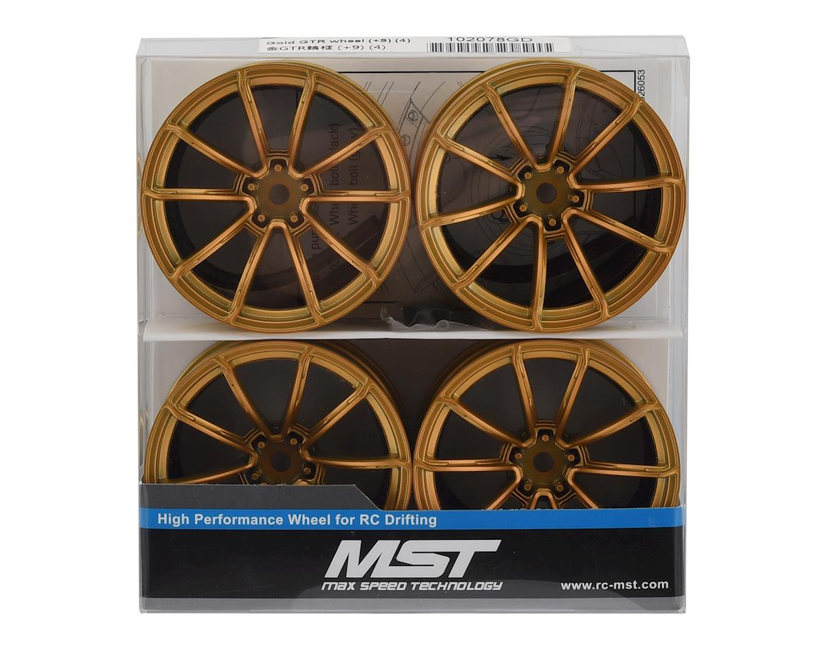 MST GTR Wheel Set (Gold) (4) (+9 Offset)
