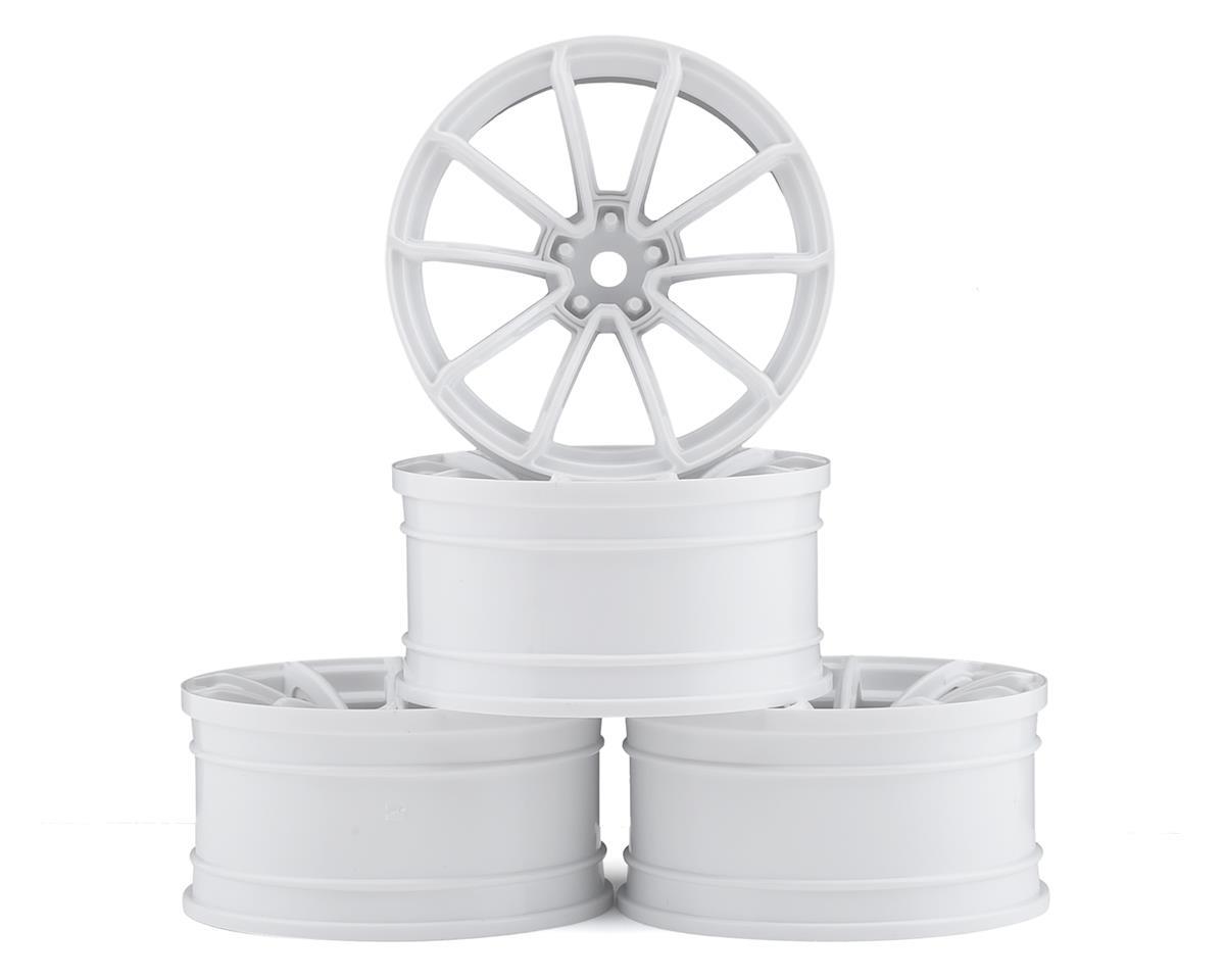 MST FXX-D GTR Wheel Set (White) (4) (+9 Offset)