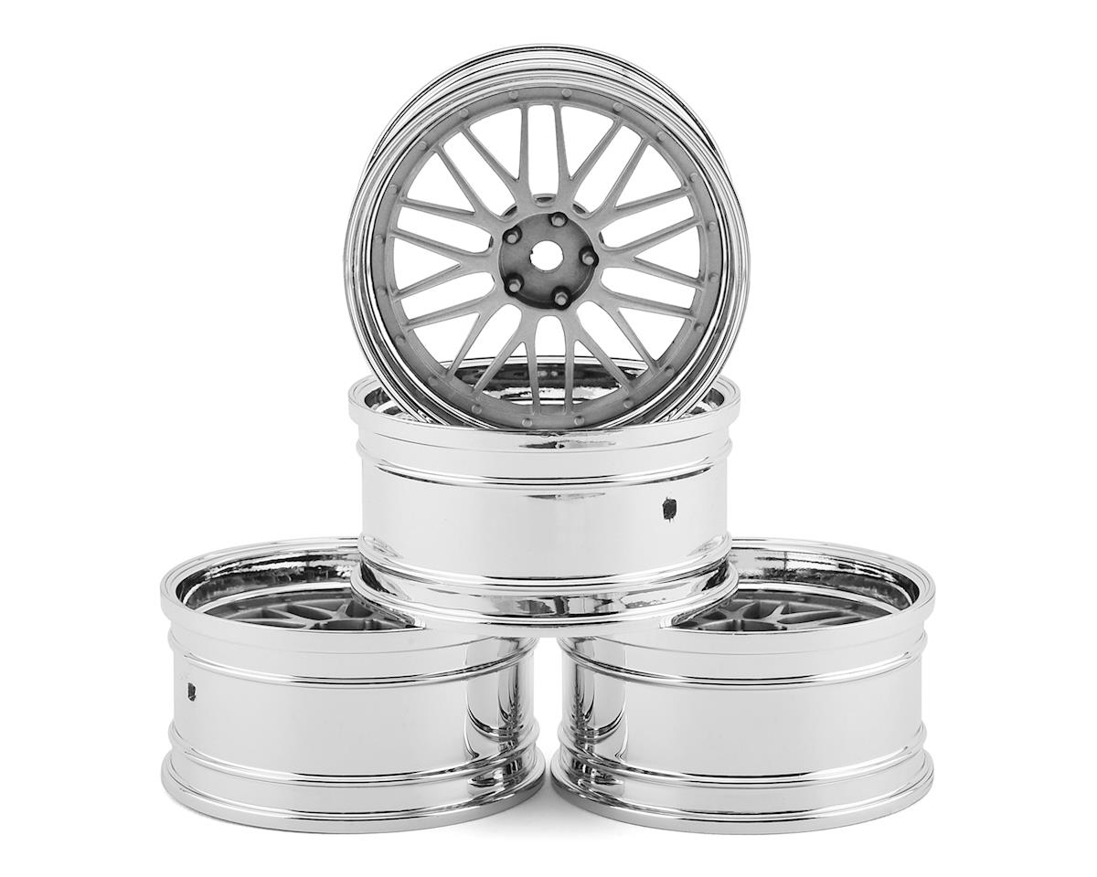 MST FXX-D LM Wheel Set (Flat Silver) (4) (Offset Changeable)