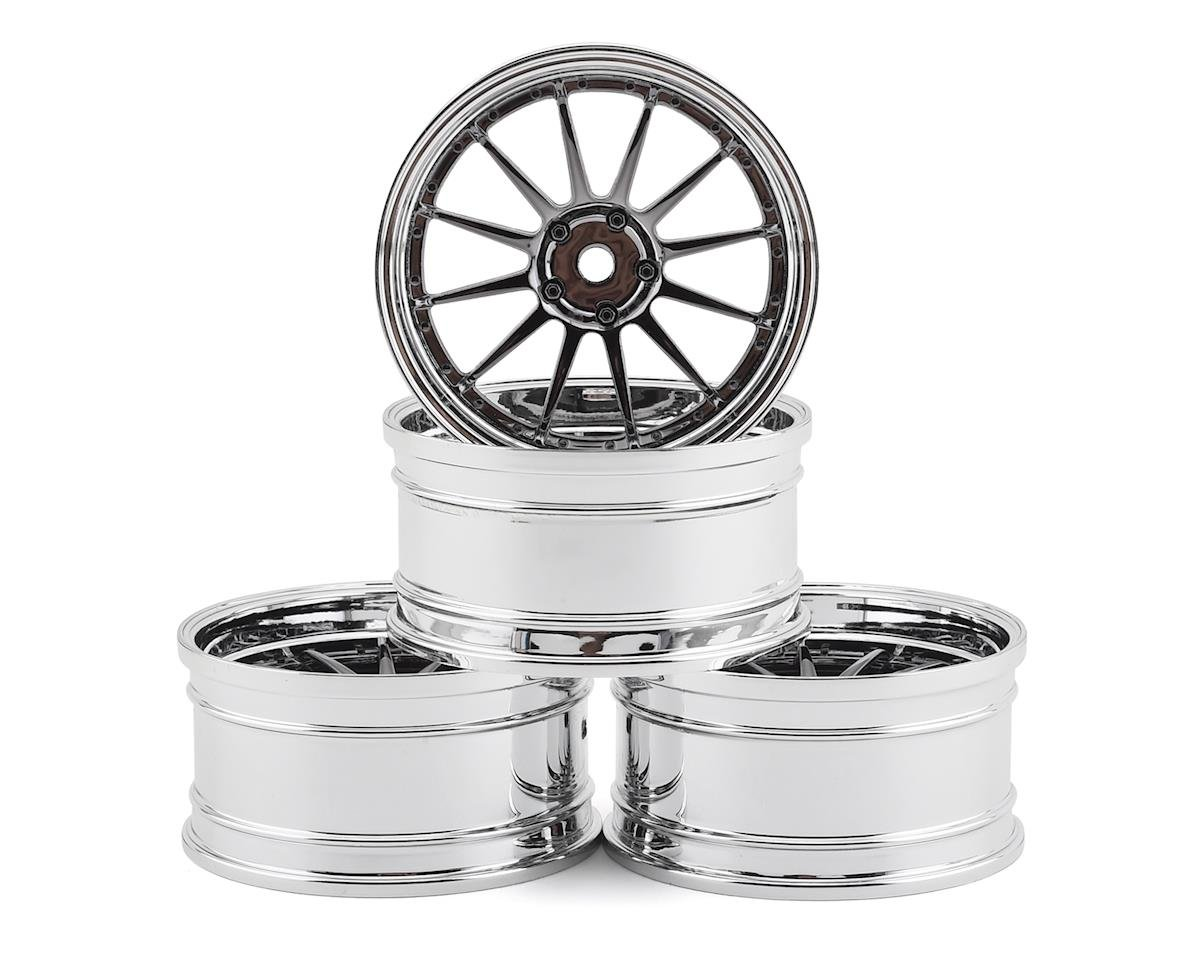 MST FXX-D S-GD 21 Wheel Set (Silver/Black) (4) (Offset Changeable)