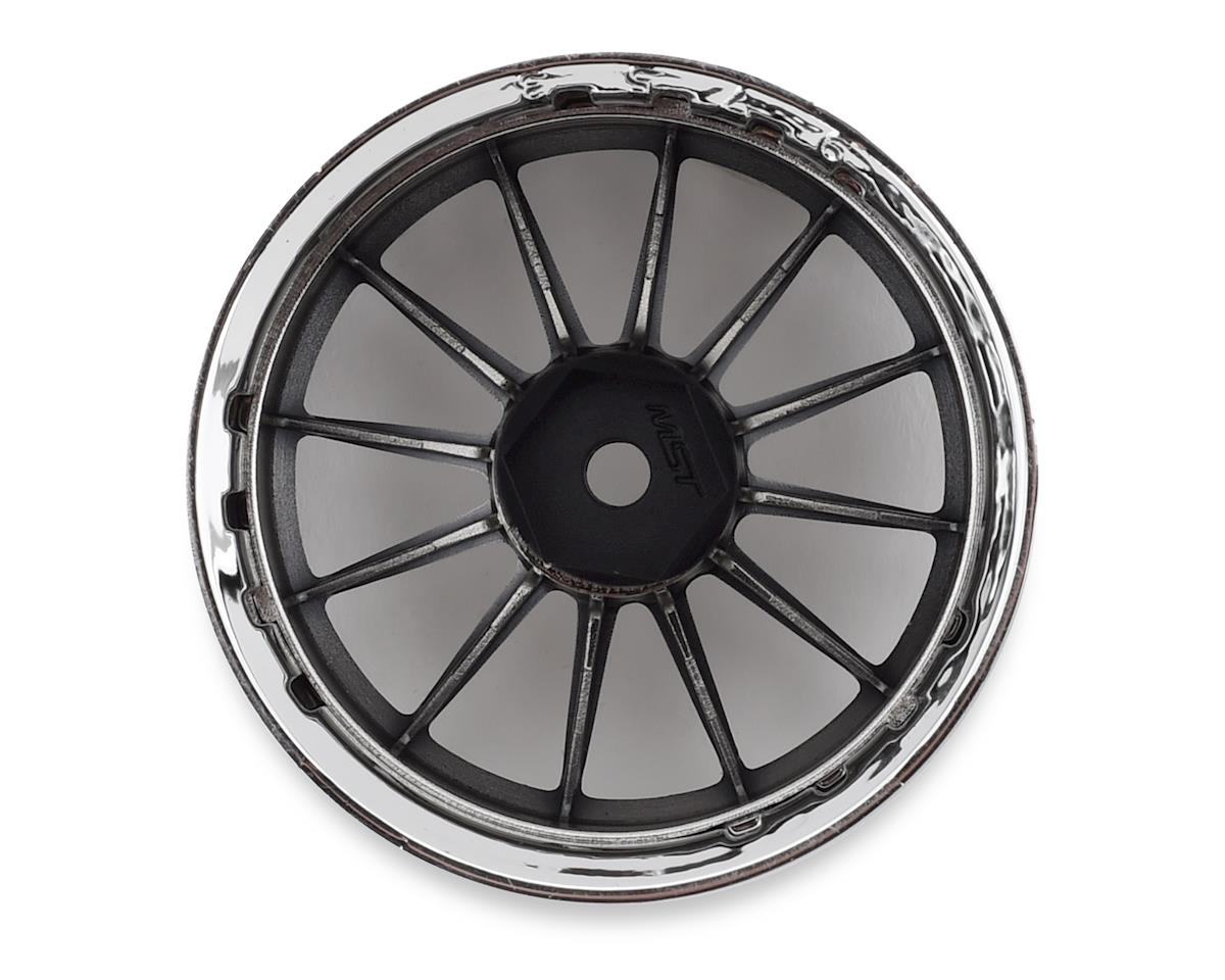 MST S-GD 21 Wheel Set (Silver/Black) (4) (Offset Changeable)