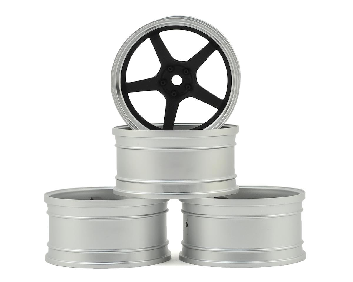 MST FXX-D GT Wheel Set (Matte Silver/Black) (4) (Offset Changeable)