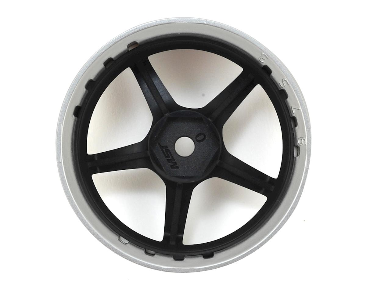 MST GT Wheel Set (Matte Silver/Black) (4) (Offset Changeable)