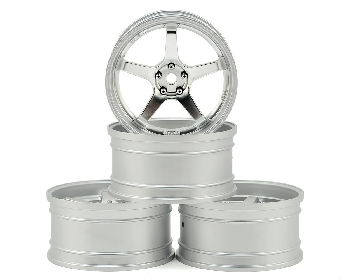 MST FXX-D GT Wheel Set (Matte Silver/Chrome) (4) (Offset Changeable)