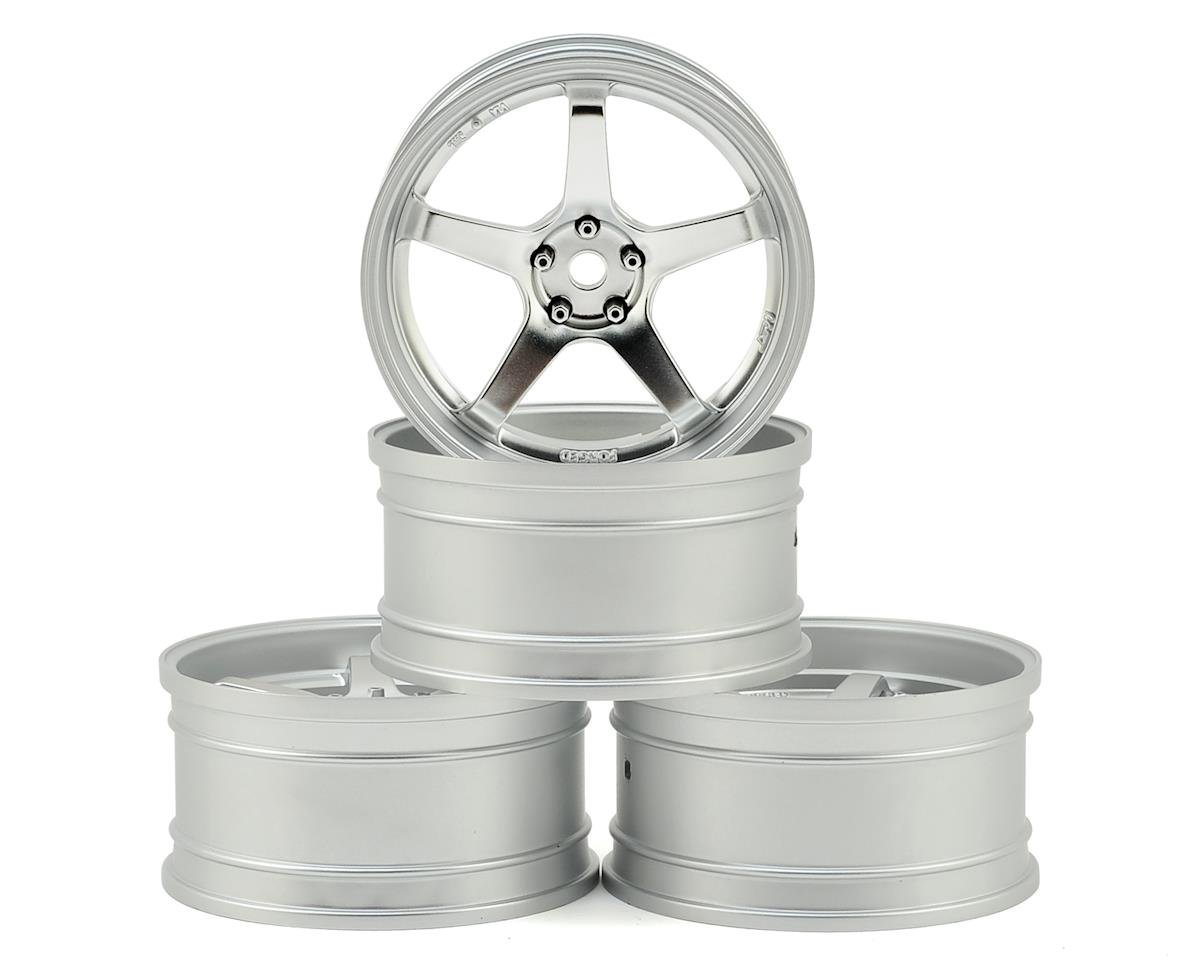 MST RMX 2.0 S GT Wheel Set (Matte Silver/Chrome) (4) (Offset Changeable)