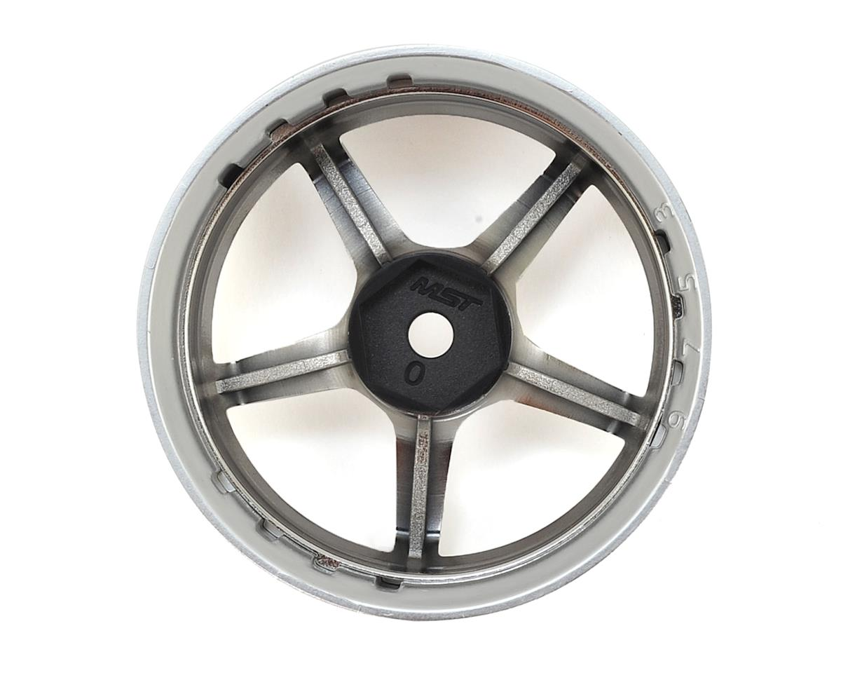 MST GT Wheel Set (Matte Silver/Black Chrome) (4) (Offset Changeable)